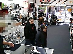 Chick gets pounded as a pay for stealing in a pawn shop