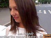 Sweet amateur brunette teen Foxy Di ass fucked in public