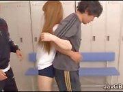Hot Japanese schoolgirl loves gym class