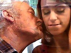 Lucky old fart fucks sexy redhead teen Erica Fontes