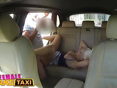 Female Fake Taxi Big tits blonde cabbie fucks young stud