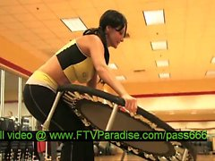 Magnificent Gorgeous Busty Brunette In The Gym