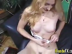 Amateur Blonde Girl Swallowing Cum POV