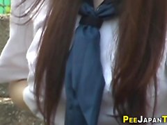 Teen student pees herself
