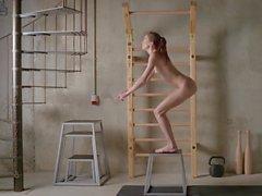 Skinny nude girl still too fat