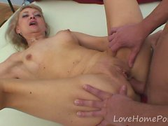 Blonde stepmom makes a move on her stepson