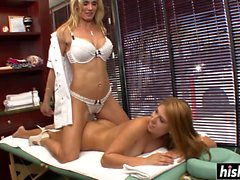 Nasty lesbians enjoy pleasing each other