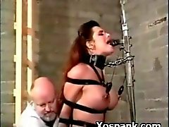 Alluring Bondage Slut Spanked Hot
