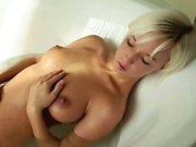 Beautiful blondie babe morning shower