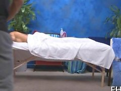 Exotic teen gets an erotic massage