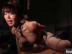 Asian slut is into some BDSM