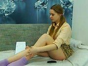 Amateur Teen Girl Shows Off On Webcam