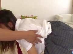 Amateur threesome porn session with teen Ryo Asaka