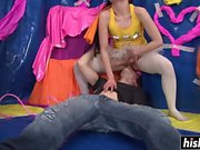 Sweet babe sucks and gets rammed