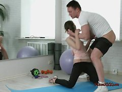 Teen Stefanie Gets Boned By Hung Gym Instructor
