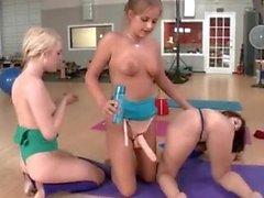 Yoga Studio Lesbian Fuck Fest
