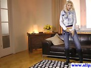 Young casting euro beauty banging old dude