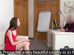 Fake Agent Casting slim pretty shy 18yr Belarus
