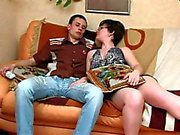 Stepmom with small saggy tits & guy