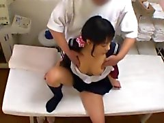 Schoolgirl has a climax during a very sensual Massage