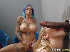 Big black cock for Anna Bell Peaks and Iris Rose