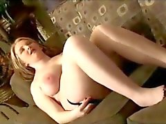 Cute Fat Chubby Teen rubbing her little belly and pink pussy