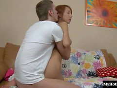 Check out this flirtatious redhead teen schoolgirl who gets