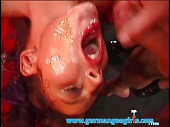 Messy German Bukkake Orgy - German Goo Girls