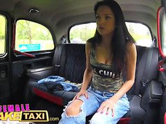 Female Fake Taxi Amateur actress licks and fingers