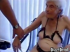 She is 80 years old and taking young cock