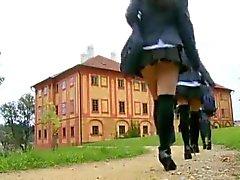 Sweet european schoolgirl gets anal lesson