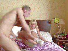 Bro Seduce Petite blonde Step-Sis in Panty
