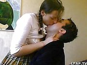 French amateur couple having sex on the bed