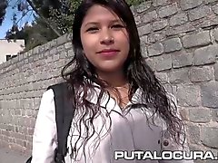 PUTA LOCURA Cute Busty Teen picked up