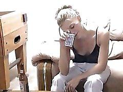 Drunk Blonde Coed Loses Strip Po...