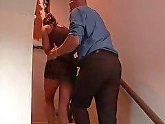 Babysitter getting licked by her boss after sex