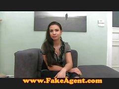 FakeAgent Creampie for hot amateur
