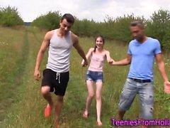 Dutch teen rides dicks