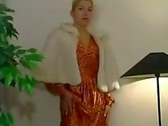 Blonde in Shiny Pantyhose