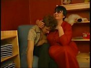 Granny Channel - Young Boy Seduced By Short Dark Hair Fat Ugly Old Woman With Glasses