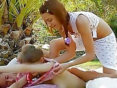 trio lesbians outdoor fucking
