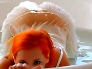 Redhead Ariel tease pussy for you