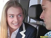 Schoolgirl fucked in her uniform