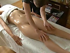 Wild fucking after massage
