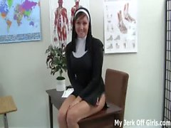 Made to jerk off during confession by Sister Taylor