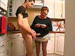 Young Arab guy bangs a fat mom
