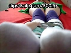 sock worship of a tied up and sleeping schoolgirl feet foot fetish