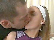 Awesome teen explores sensual pleasures