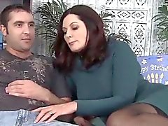 gorgeous mature seducing young stud