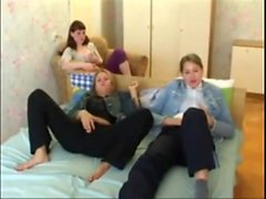 Blonde Teen Girls Lesbian Fun